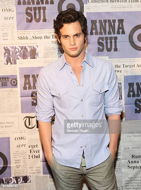 Actor Penn Badgley attends the Anna Sui for Target pop-up store launch party at Anna Sui for Target Pop-Up Store on September 9, 2009 in New York...