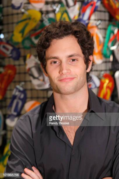 Actor Penn Badgley attends the Havaianas launch at Barneys New York on June 10 2010 in New York City