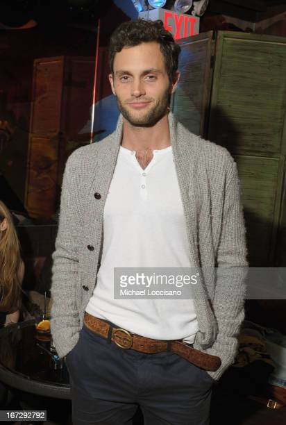 Actor Penn Badgley attends theTribeca Film Festival 2013 After Party for Greetings From Tim Buckley sponsored by Bombay on April 23 2013 in New York...