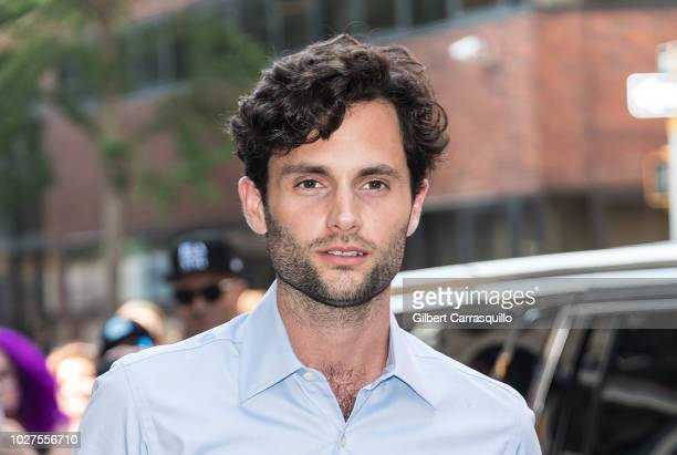 Actor Penn Badgley is seen arriving to AOL Build Series at Build Studio on September 5 2018 in New York City