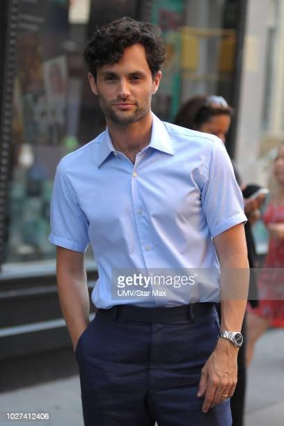 Actor Penn Badgley is seen on September 5 2018 in New York City
