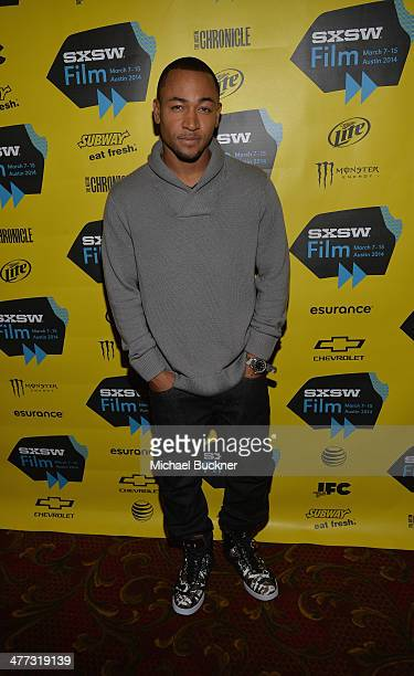 Actor Percy Daggs III arrives at the premiere of 'Veronica Mars' during the 2014 SXSW Music Film Interactive Festival at the Paramount Theatre on...