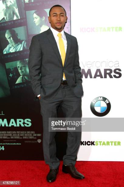 Actor Percy Daggs III attends the 'Veronica Mars' Los Angeles premiere held at the TCL Chinese Theatre on March 12 2014 in Hollywood California