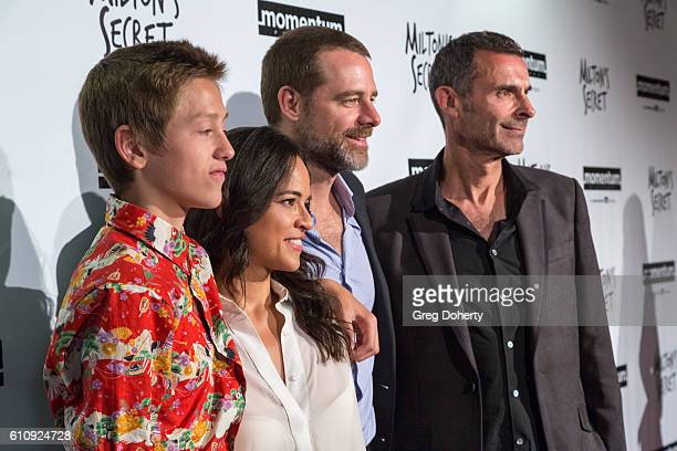 Actor Percy Hynes White Actress Michelle Rodriguez Actor David Sutcliffe and Director Barnet Bain attend the Premiere Of Momentum Pictures' 'Milton's...