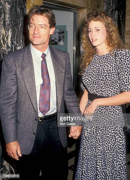 Actor Perry King and date Jamie Elvidge attend the Third Annual Commitment to Life Gala to Benefit AIDS Project Los Angeles on November 1 1987 at...