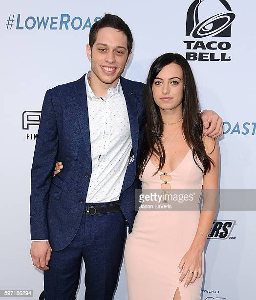 Actor Pete Davidson and Cazzie David attend the Comedy Central Roast of Rob Lowe at Sony Studios on August 27 2016 in Los Angeles California