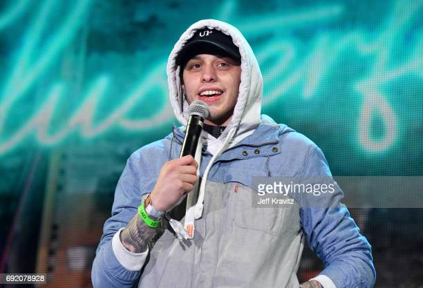 Actor Pete Davidson performs onstage at the Colossal Stage during Colossal Clusterfest at Civic Center Plaza and The Bill Graham Civic Auditorium on...