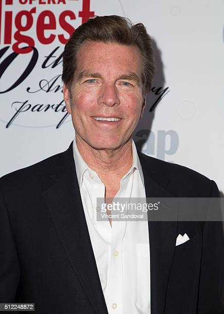 Actor Peter Bergman attends Soap Opera Digest Celebrates 40th Anniversary at The Argyle on February 24 2016 in Hollywood California