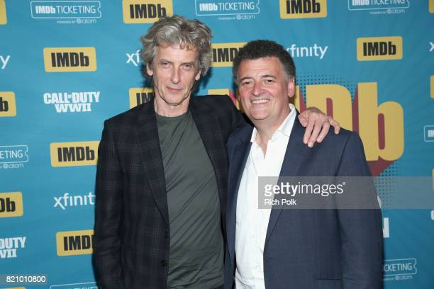Actor Peter Capaldi and writer Steven Moffat on the #IMDboat at San Diego ComicCon 2017 at The IMDb Yacht on July 22 2017 in San Diego California