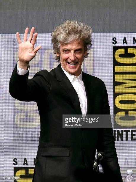 Actor Peter Capaldi at 'Doctor Who' BBC America official panel during ComicCon International 2017 at San Diego Convention Center on July 23 2017 in...