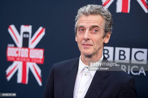"""Actor Peter Capaldi attends BBC America's """"Doctor Who"""" Premiere Fan Screening at Ziegfeld Theater on August 14, 2014 in New York City."""