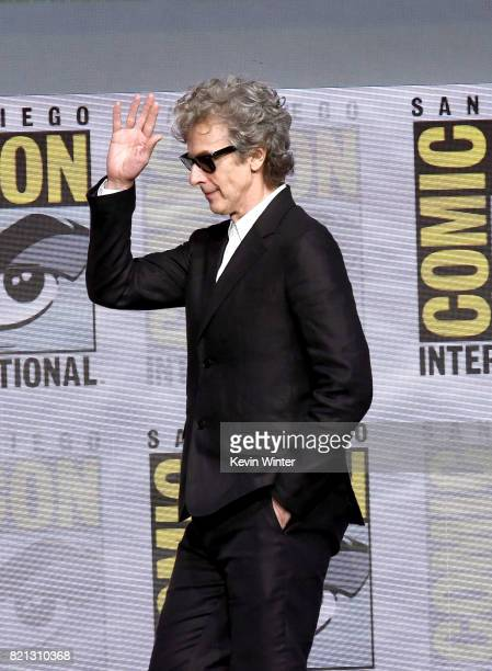 Actor Peter Capaldi attends the 'Doctor Who' BBC America official panel during ComicCon International 2017 at San Diego Convention Center on July 23...