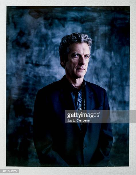 Actor Peter Capaldi of 'Doctor Who' is photographed on polaroid film at ComicCon International 2015 for Los Angeles Times on July 9 2015 in San Diego...