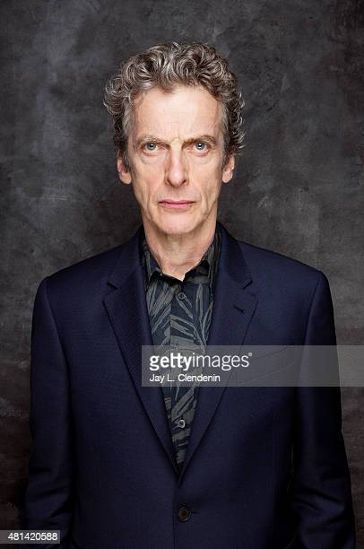 Actor Peter Capaldi of 'Doctor Who' poses for a portrait at ComicCon International 2015 for Los Angeles Times on July 9 2015 in San Diego California...