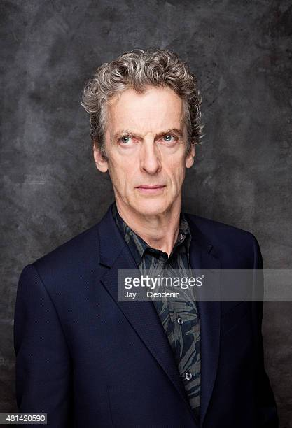 Actor Peter Capaldi of 'Doctor Who' poses for a portrait at Comic-Con International 2015 for Los Angeles Times on July 9, 2015 in San Diego,...