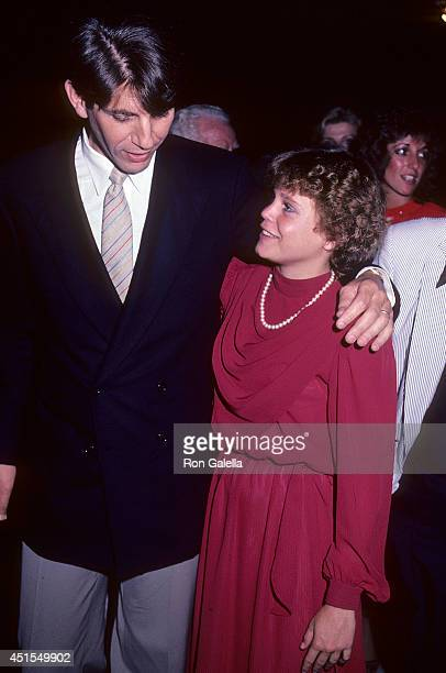 Actor Peter Coyote and actress Dana Hill attend the Cross Creek Premiere Party on September 12 1983 at New York State Theatre Lincoln Center in New...