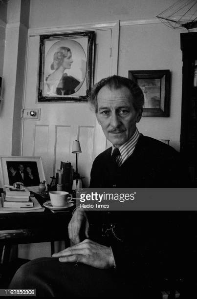 Actor Peter Cushing at his home, promoting the BBC Radio 4 series 'Sounds Natural' where he talks about the British countryside in Whitstable, Kent,...