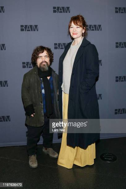 Actor Peter Dinklage and actress Erica Schmidt attend the opening night party for Medea at the BAM Harvey Theater on January 30 2020 in New York City