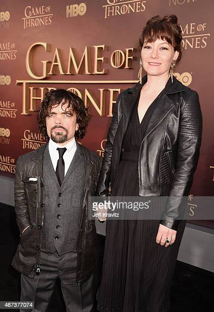 Actor Peter Dinklage and Erica Schmidt attend HBO's Game of Thrones Season 5 Premiere and After Party at the San Francisco Opera House on March 23...