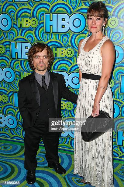 Actor Peter Dinklage and his wife Erica Schmidt attend HBO's Annual Primetime Emmy Awards Post Award Reception at The Plaza at the Pacific Design...