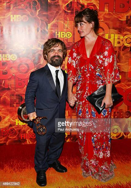 Actor Peter Dinklage and his Wife Erica Schmidt attend HBO's official 2015 Emmy After Party at The Plaza at the Pacific Design Center on September 20...