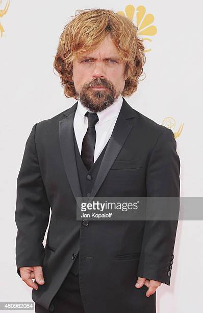 Actor Peter Dinklage arrives at the 66th Annual Primetime Emmy Awards at Nokia Theatre LA Live on August 25 2014 in Los Angeles California