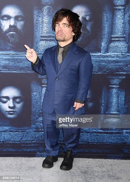 Actor Peter Dinklage arrives at the premiere of HBO's 'Game of Thrones' Season 6 at the TCL Chinese Theatre on April 10 2016 in Hollywood California