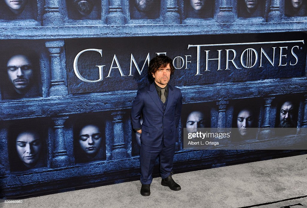 Actor Peter Dinklage arrives for the Premiere Of HBO's 'Game Of Thrones' Season 6 held at TCL Chinese Theatre on April 10, 2016 in Hollywood, California.