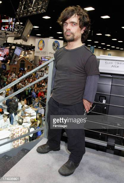 Actor Peter Dinklage attends HBO's 'Game Of Thrones' cast autograph signing at San Diego Convention Center on July 19 2013 in San Diego California