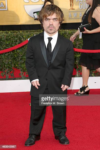 Actor Peter Dinklage attends the 20th Annual Screen Actors Guild Awards at The Shrine Auditorium on January 18 2014 in Los Angeles California