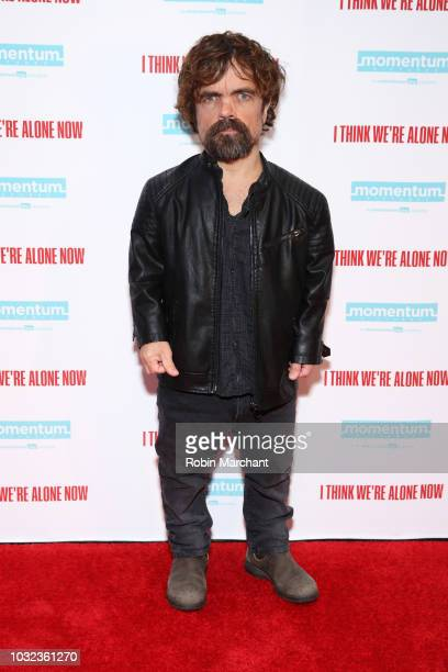 Actor Peter Dinklage attends the New York Special Screening Of 'I Think We're Alone Now' on September 12, 2018 at the Dolby 88 Theater in New York...