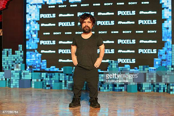 Actor Peter Dinklage attends the 'Pixels' photo call during Summer Of Sony Pictures Entertainment 2015 at The RitzCarlton Cancun on June 15 2015 in...