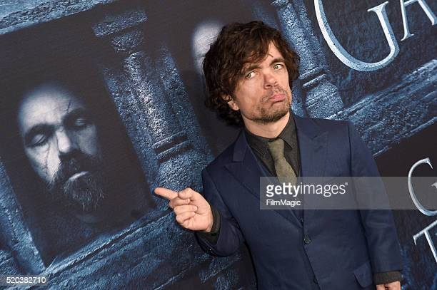 Actor Peter Dinklage attends the premiere for the sixth season of HBO's 'Game Of Thrones' at TCL Chinese Theatre on April 10 2016 in Hollywood City