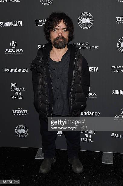 Actor Peter Dinklage attends the 'Rememory' Premiere on day 7 of the 2017 Sundance Film Festival at Library Center Theater on January 25 2017 in Park...