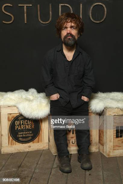 Actor Peter Dinklage of 'I Think We're Alone Now' attends The IMDb Studio and The IMDb Show on Location at The Sundance Film Festival on January 21...