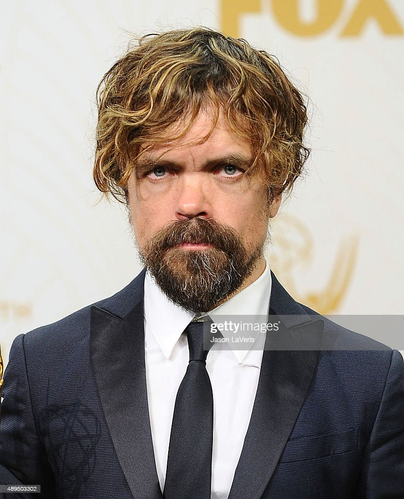 Actor Peter Dinklage poses in the press room at the 67th annual Primetime Emmy Awards at Microsoft Theater on September 20, 2015 in Los Angeles, California.