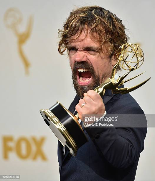 Actor Peter Dinklage winner of Outstanding Supporting Actor in a Drama Series for 'Game of Thrones' poses in the press room at the 67th Annual...
