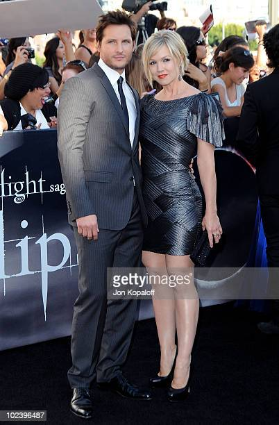 Actor Peter Facinelli and actress Jennie Garth arrive at the Los Angeles Premiere The Twilight Saga Eclipse at Regal 14 at LA Live Downtown on June...
