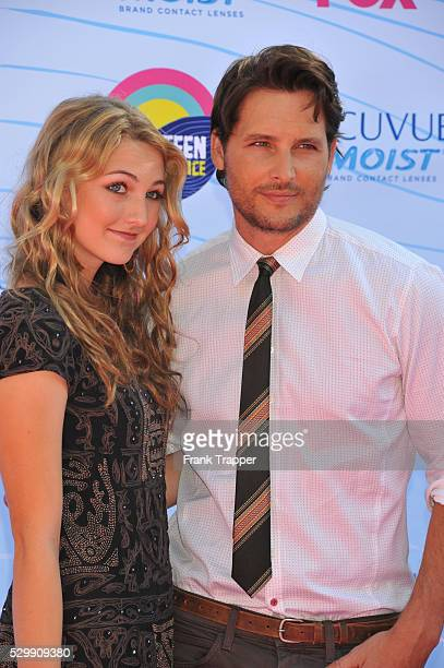 Actor Peter Facinelli and guest arrive at the 2012 Teen Choice Awards held at the Gibson Amphitheatre in Universal City California