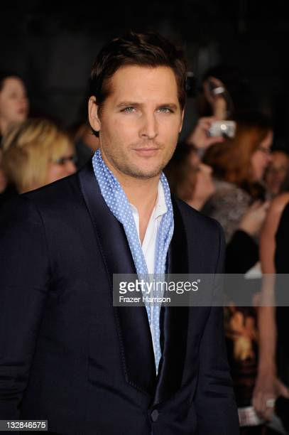 Actor Peter Facinelli arrives at Summit Entertainment's 'The Twilight Saga Breaking Dawn Part 1' premiere at Nokia Theatre LA Live on November 14...