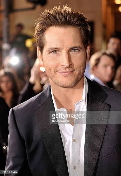 Actor Peter Facinelli arrives at the film premiere of Summit Entertainment's Twilight held at the Mann Village and Bruin Theaters on November 17 2008...