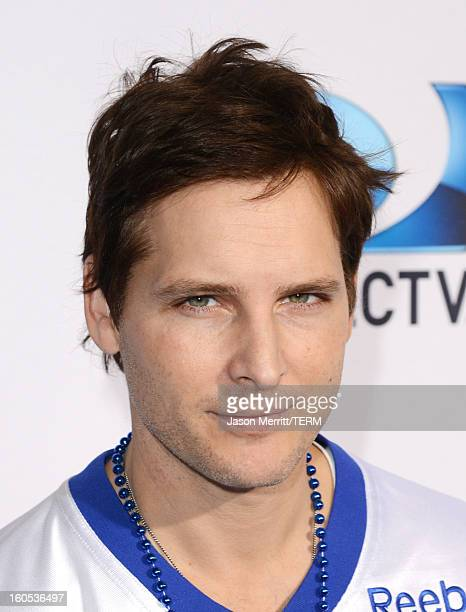 Actor Peter Facinelli attends DIRECTV'S Seventh Annual Celebrity Beach Bowl at DTV SuperFan Stadium at Mardi Gras World on February 2 2013 in New...