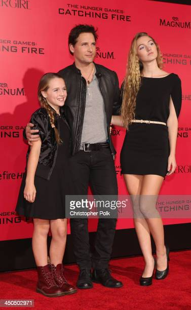 Actor Peter Facinelli attends premiere of Lionsgate's The Hunger Games Catching Fire Red Carpet at Nokia Theatre LA Live on November 18 2013 in Los...