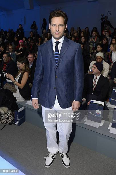 Actor Peter Facinelli attends the Nautica Men's Fall 2013 fashion show during MercedesBenz Fashion Week at The Stage at Lincoln Center on February 8...