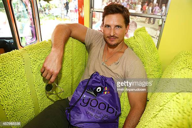 Actor Peter Facinelli attends Yoobi Fun Day at The Grove on July 31 2014 in Los Angeles California