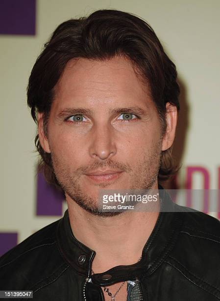 Actor Peter Facinelli poses in the press room during the 2012 MTV Video Music Awards at Staples Center on September 6 2012 in Los Angeles California