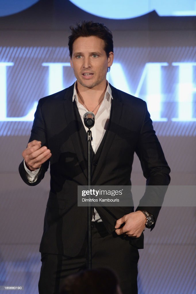 Actor Peter Facinelli speaks onstage at the 2013 GQ Gentlemen's Ball presented by BMW i, Movado, and Nautica at IAC Building on October 23, 2013 in New York City.