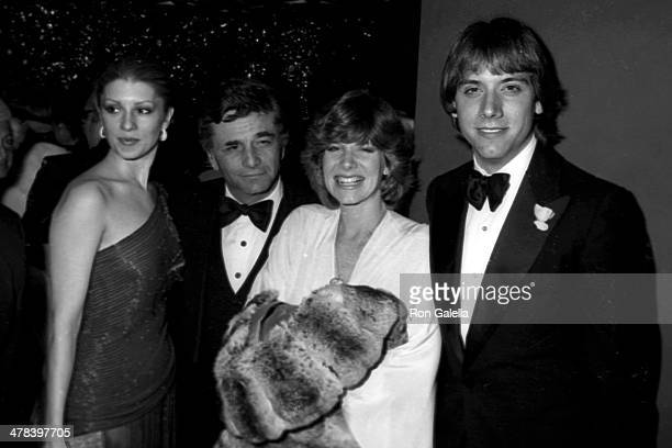 Actor Peter Falk and wife Shera Danese and singer Debby Boone and husband Gabriel Ferrer attend Frank Sinatra Hosts A Valentine LoveIn Frank His...