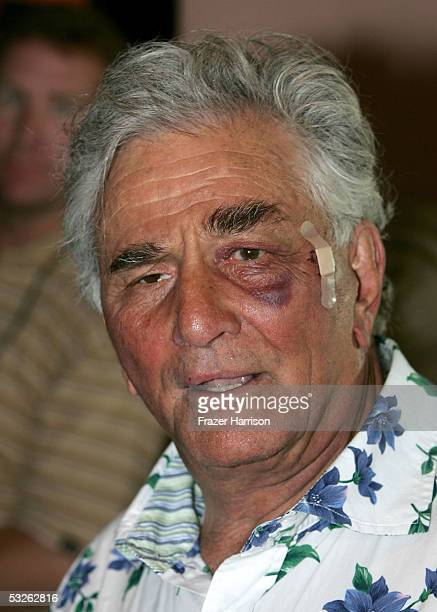 Actor Peter Falk arrives at the Hollywood Foreign Press Association annual installation luncheon at the Beverly Hills Hotel on July 20 2005 in...