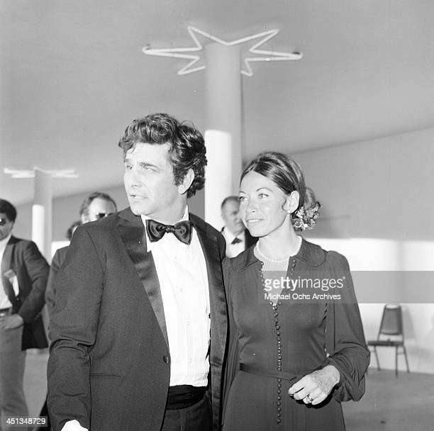 Actor Peter Falk with wife Alyce Mayo attends a party in Los Angeles California